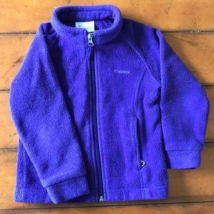 Purple Columbia fleece - 3T